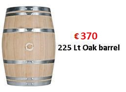 225 liter oak barrel