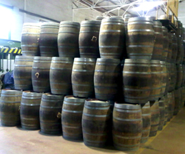 used cognac barrels